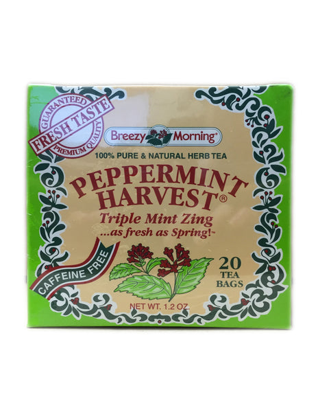 <b>BREEZY MORNING</b><br>Peppermint Harvest Tea - 20 Bags