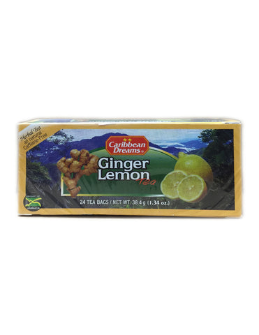 <b>CARIBBEAN DREAMS</b><br>Ginger Lemon Tea - 24 Bags