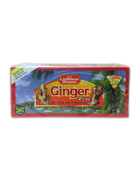 <b>CARIBBEAN DREAMS</b><br>Ginger Tea - 24 Bags