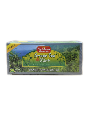 <b>CARIBBEAN DREAMS</b><br>Green Tea & Mint - 24 Bags