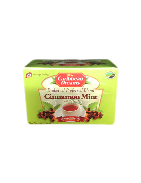 <b>CARIBBEAN DREAMS</b><br>Cinnamon Mint Natural Herbal Tea - 20 Bags