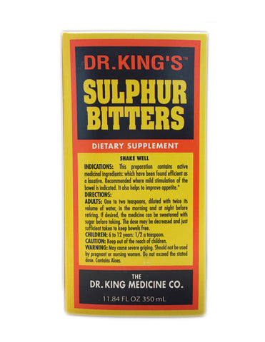 <b>DR. KING'S</b><br>Sulphur Bitters Dietary Supplement