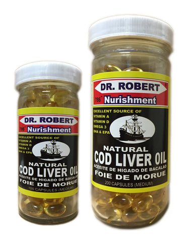 <b>DR. ROBERT</b><br>Natural Cod Liver Oil
