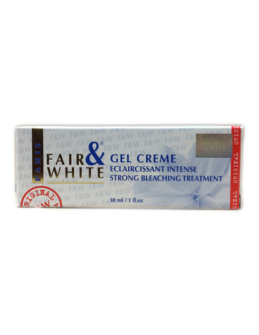 <b>FAIR & WHITE</b><br>Gel Creme Strong Bleaching Treatment