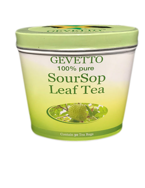 <b>GEVETTO</b></br>100% Pure Soursop Leaf Tea