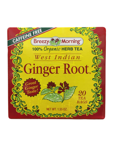 <b>BREEZY MORNING</b><br>West Indian Ginger Root Tea - 20 Bags