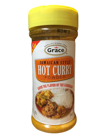 <b>GRACE</b><br>Jamaican Style Hot Curry Powder