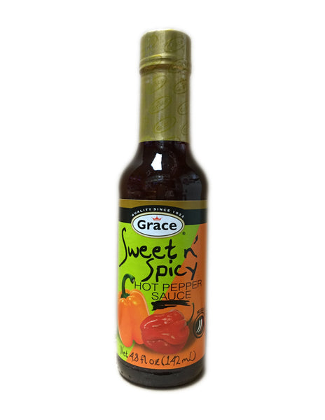 <b>GRACE</b><br>Sweet n' Spicy Hot Pepper Sauce