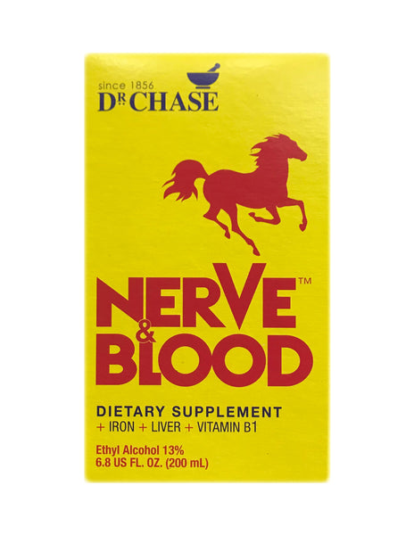 <b>DR. CHASE</b><br>Nerve and Blood Dietary Supplement