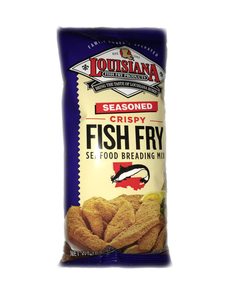 <b>LOUISIANA</b><br>Seasoned Crispy Fish Fry Seafood Breading Mix