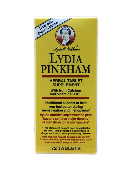 <b>LYDIA PINKHAM</b><br>Herbal Tablet Supplement