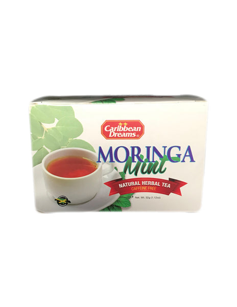 <b>CARIBBEAN DREAMS</b><br>Moringa Mint Natural Herbal Tea - 20 Bags