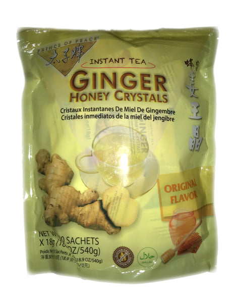 <b>PRINCE OF PEACE</b><br>Instant Ginger Honey Crystals Tea - 30 Bags