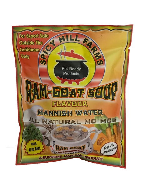 <b>SPICY HILL FARMS</b><br>Ram-Goat Soup Flavour
