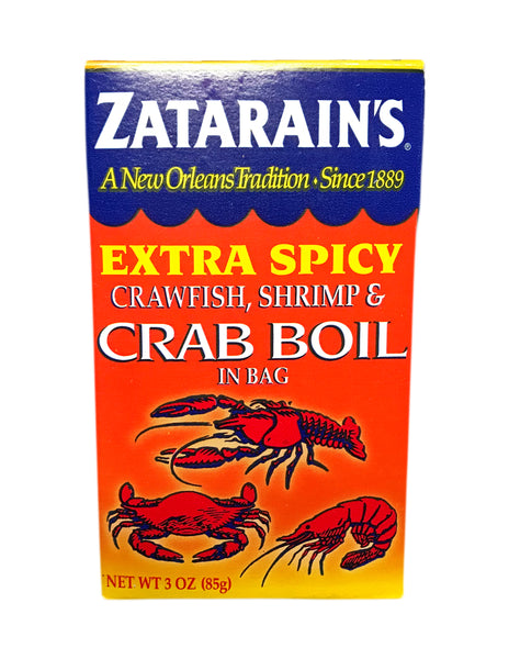 <b>ZATARAIN'S</b><br> Extra Spicy Crawfish, Shrimp & Crab Boil in a Bag