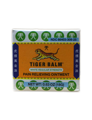 <b>TIGER BALM</b><br>Pain Relieving Ointment (White Regular Strength)