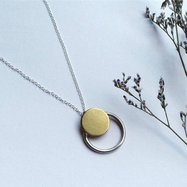 Brass Eclipse Necklace