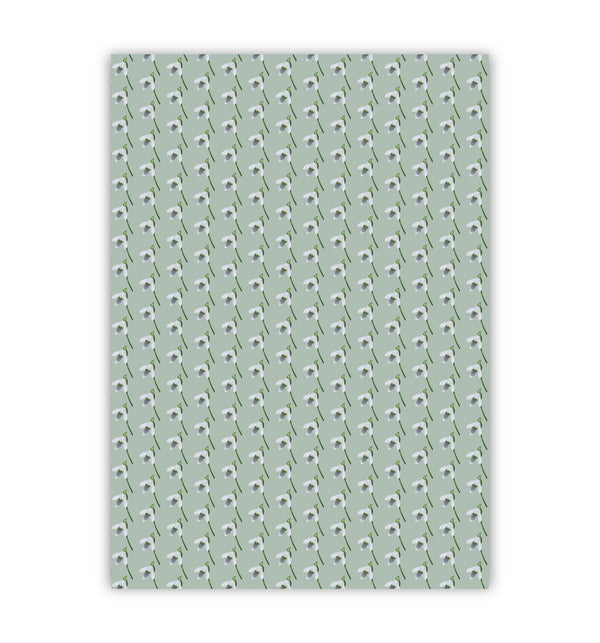 Snow Drop Wrapping Paper