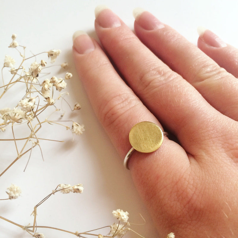 Brass Disk Ring