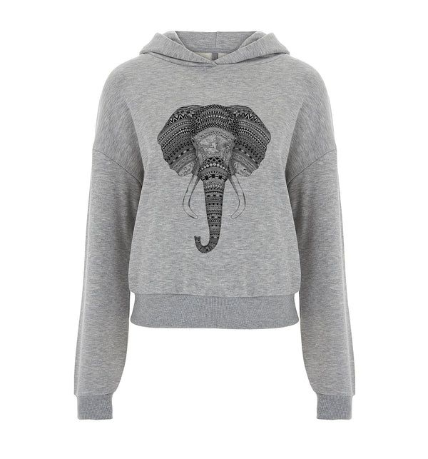An Elephant Never Forgets Crop Hoodie