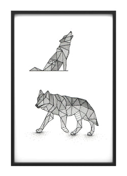 Geometric Wolves Original