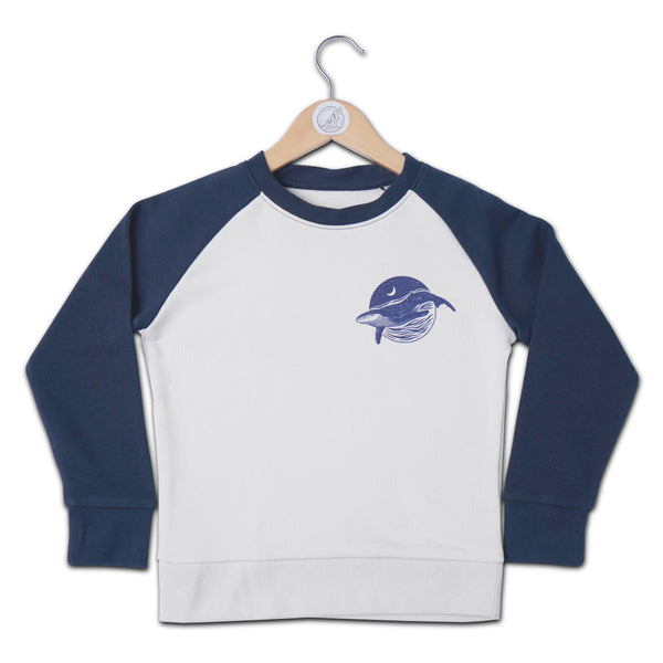 Surf Scene Contrast Raglan Kids Sweat