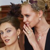 Large Diamond Earrings with Pink Tourmalines in 18k Gold Jewelry- Large/Large Layers-Terminals