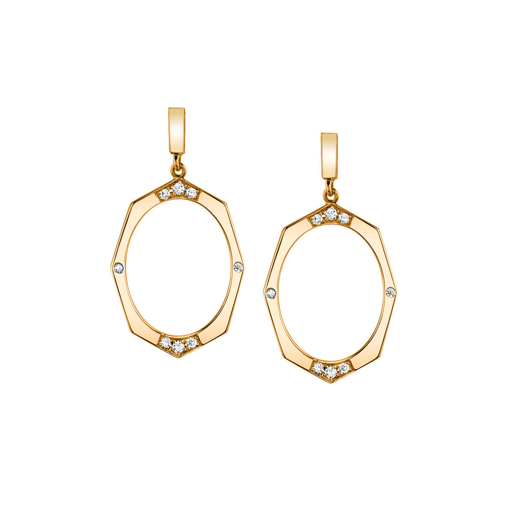 Diamond Drop Earrings In Rose Gold By Irthly