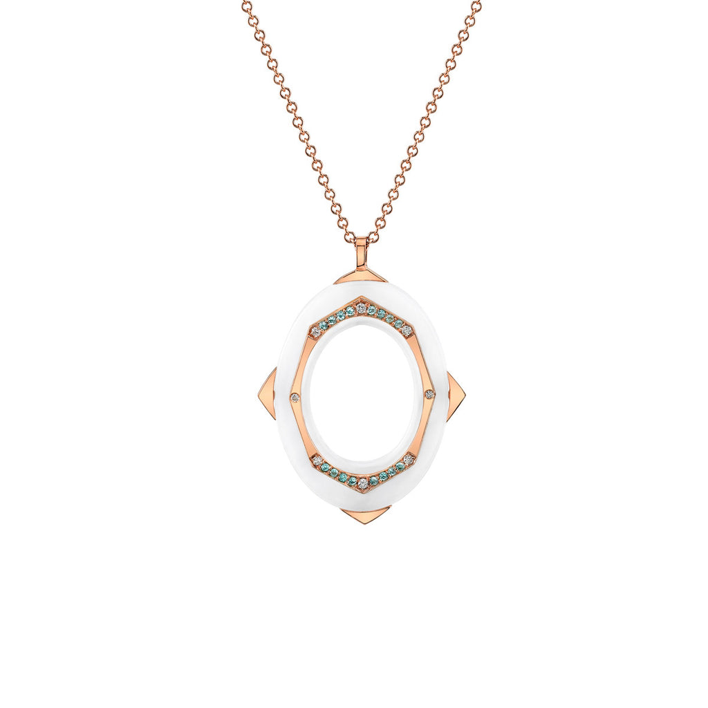 Affinity Diamond and Paraiba Pendant in 18k Gold Jewelry - Irthly