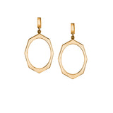Rose Gold Drop Earrings By Irthly