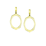 Yellow Gold Drop Earrings By Irthly