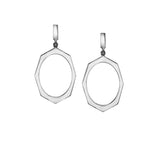 White Gold Drop Earrings By Irthly