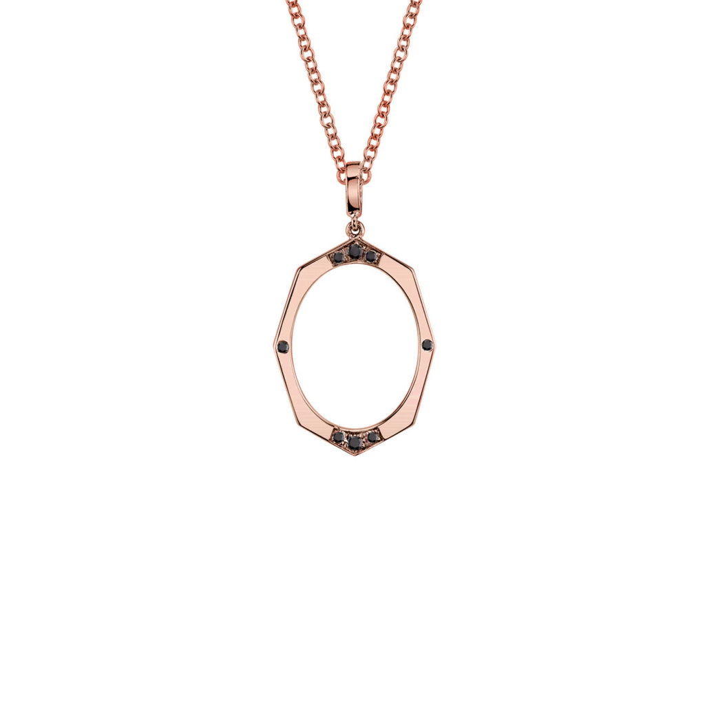 Small Black Diamond Pendant in Gold Jewelry-Affinity Sans Series
