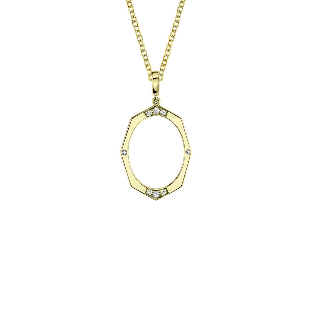 Small Diamond Pendant in Gold Jewelry-Affinity Sans Series