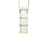 Art D'Eco Streamline Pan-Pacific Diamond Pendant in 18k Gold Jewelry - Irthly - 1