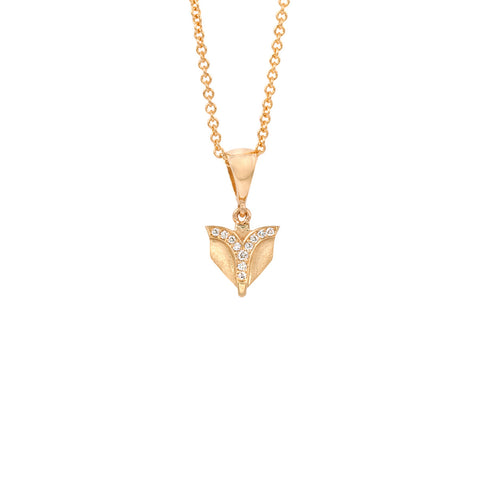 Deco Sans Fountain Diamond Pendant in 18k Gold Jewelry - Irthly - 1