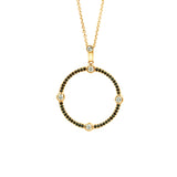 Cardinal Sans Diamond Pendant in 18k Gold Jewelry - Irthly - 2