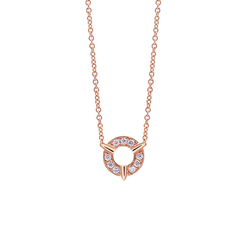 Dainty Diamond Necklace in Gold Jewelry-Cycles Sans Series