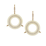 Large Cycles Diamond Earrings in 18k Gold Jewelry - Irthly - 2