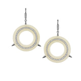 Large Cycles Diamond Earrings in 18k Gold Jewelry - Irthly - 1