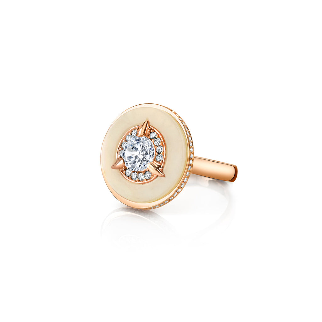 Cycles Diamond Alternative Engagement Ring in 18k Gold Jewelry - Irthly - 3