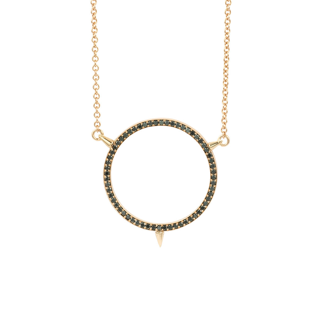 Cycles Sans Diamond Pendant in 18k Gold Jewelry - Irthly - 1