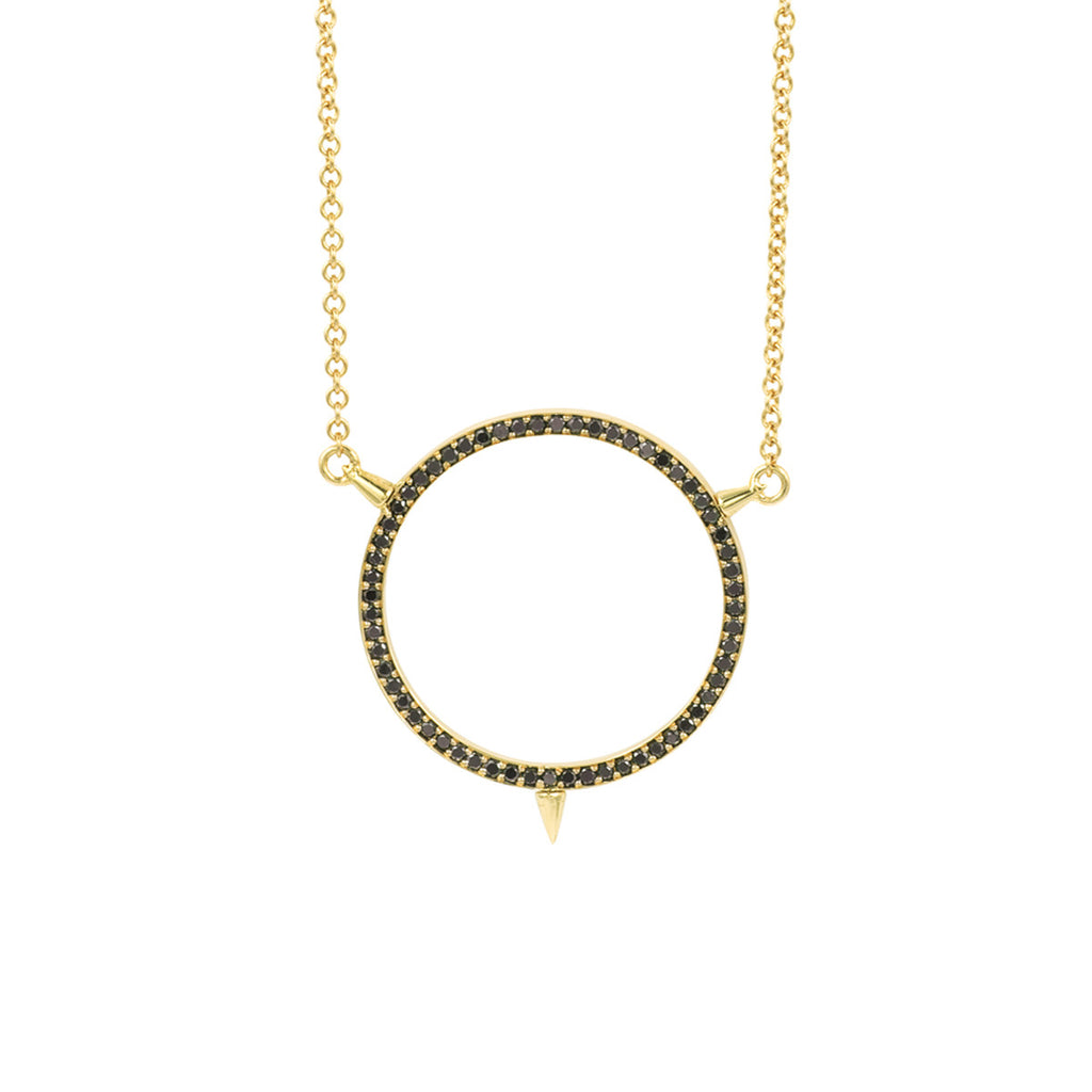 Cycles Sans Diamond Pendant in 18k Gold Jewelry - Irthly - 2