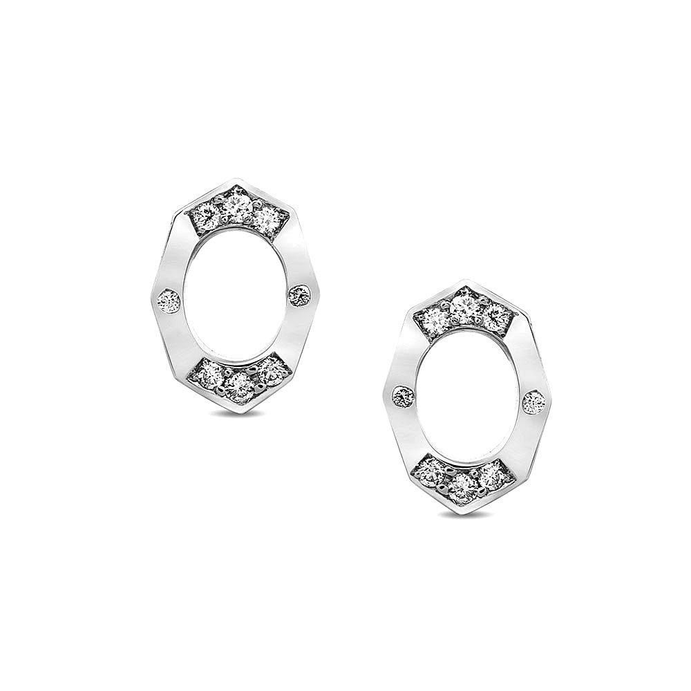 Dainty Diamond Stud Earrings | Affinity Sans | Irthly