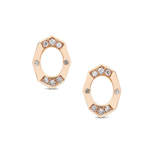 Dainty Diamond Stud Earrings in Gold Jewelry-Affinity Sans Series