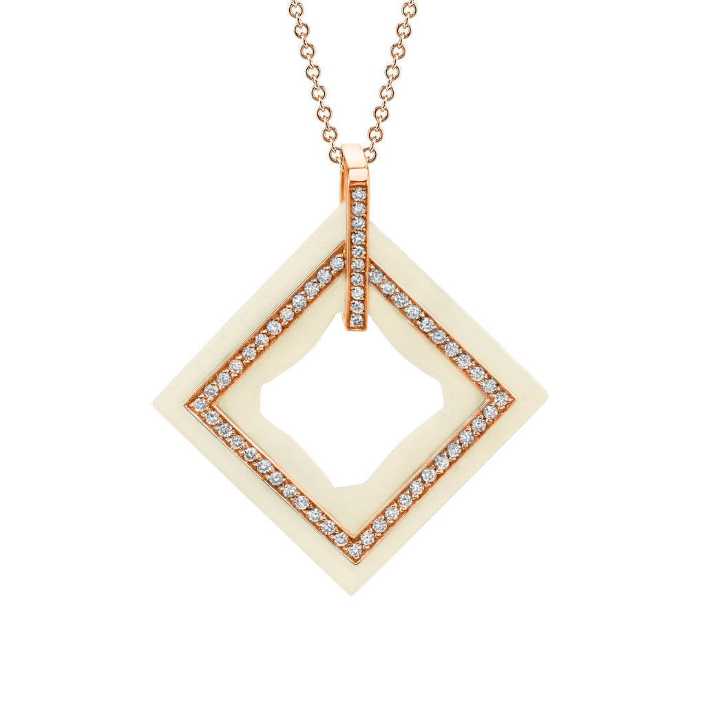 Frame Diamond Pendant in 18k Gold Jewelry - Irthly - 2