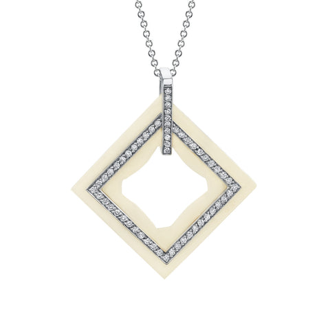 Frame Diamond Pendant in 18k Gold Jewelry - Irthly - 1