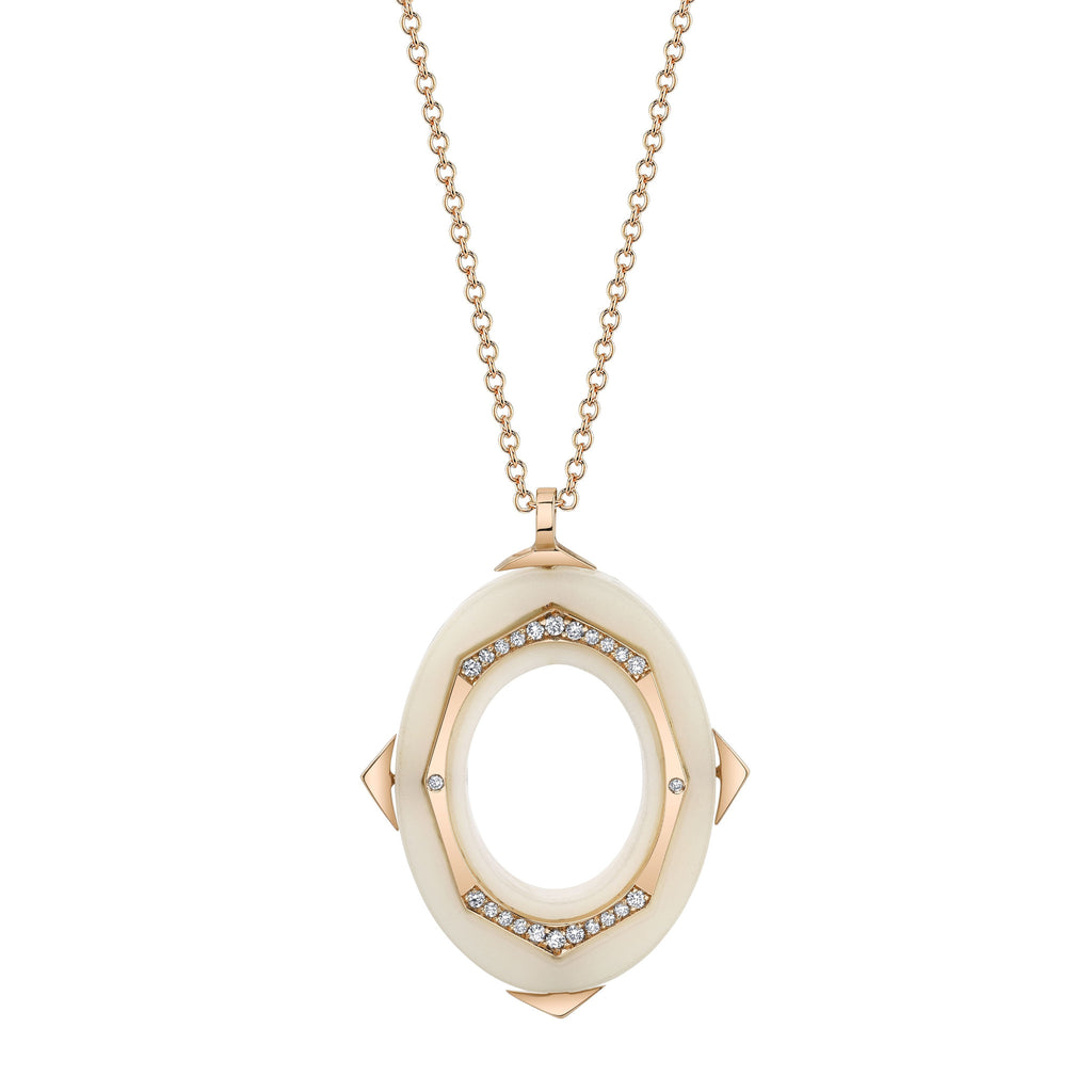 Affinity Diamond Pendant in 18k Gold Jewelry - Irthly - 1