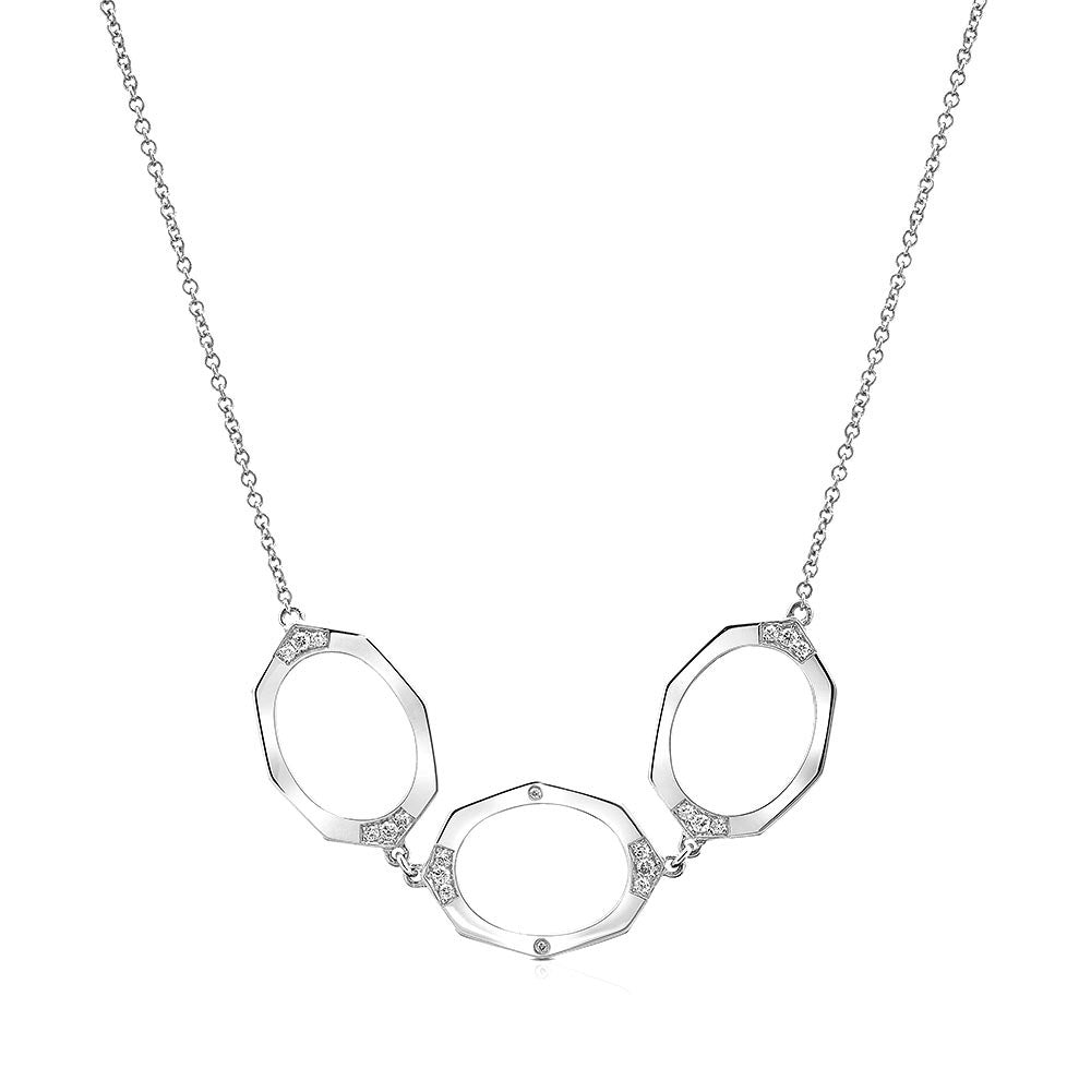 Three-Link Horizontal Diamond Necklace | Affinity Sans | Irthly