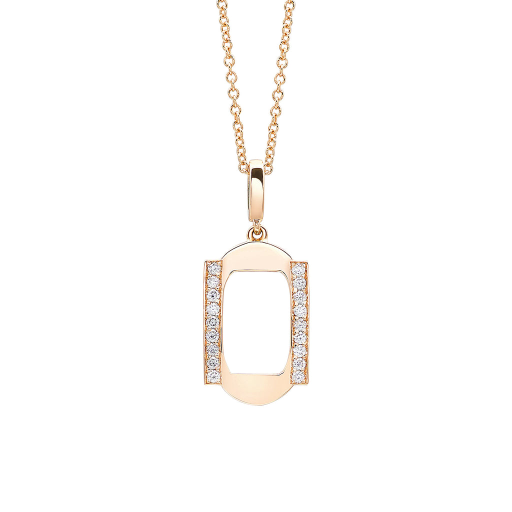 Dainty Diamond Pendant in Gold Jewelry-Frame Sans Series
